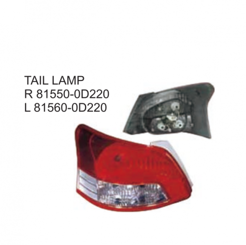 Toyota VIOS 2007 Tail lamp 81550-0D220 81560-0D220